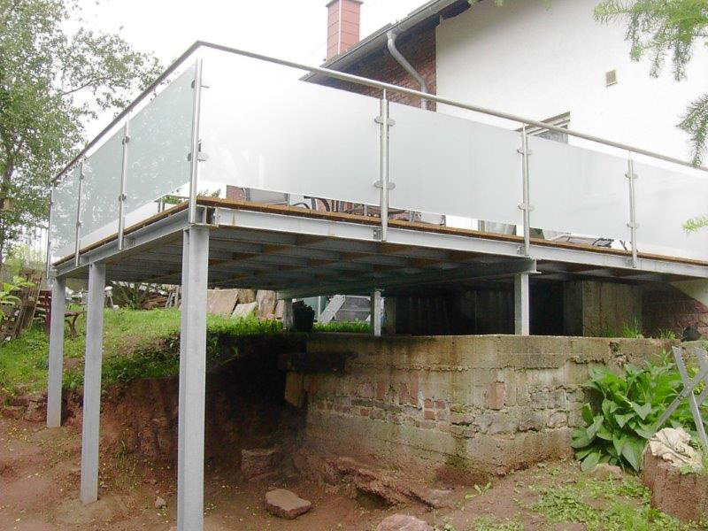 Terrasse Aus Stahl edelstahl stahl balkone und terrassen metallbau schlosserei schäfer